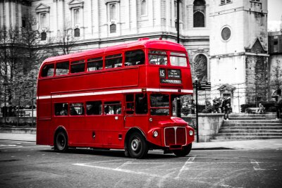 Väggdekor Londons ikoniska dubbeldäckarbuss.