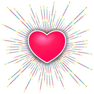 Väggdekor lycklig Alla hjärtans dag fest bakgrund