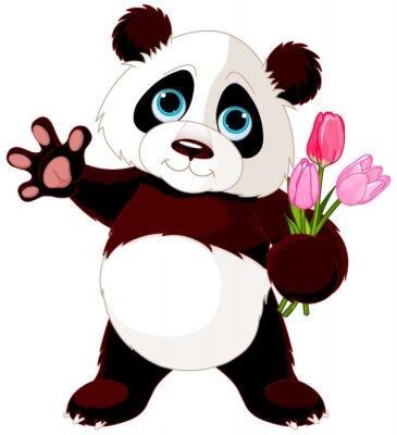 Väggdekor lycklig Panda