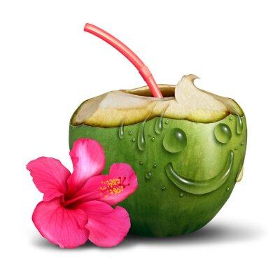 Väggdekor Lycklig Tropisk drink Concept