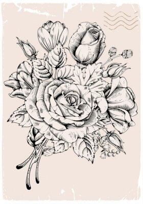 Väggdekor lyx ros