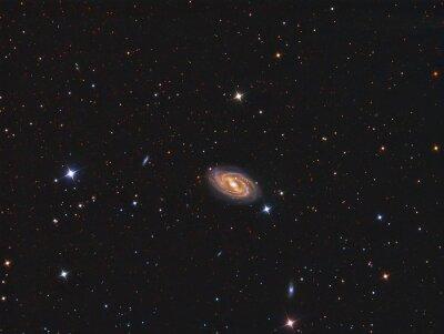 Väggdekor M109 Galaxy avbildas med ett teleskop och en vetenskaplig CCD-kamera