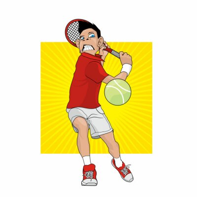 Väggdekor Mad tennisspelare