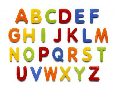 Väggdekor magnet alfabetet