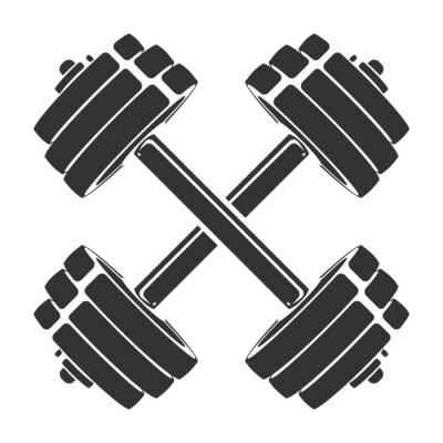 Väggdekor Mall för sportikon, symbol, logotyp eller annat varumärke. Modern retro illustration.
