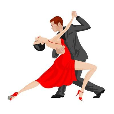 Väggdekor man och kvinna dansande