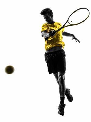 Väggdekor man tennisspelare silhuett