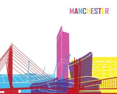 Väggdekor Manchester horisont pop