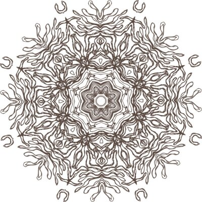 Väggdekor Mandala etnisk indisk illustration utformning