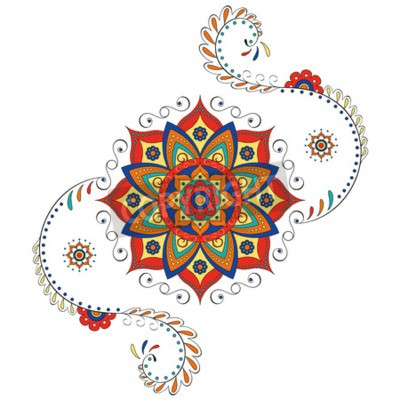 Väggdekor Mandala Hindu lotus