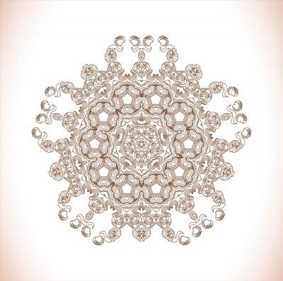 Väggdekor Mandala. Runda mönster. Ritad för hand