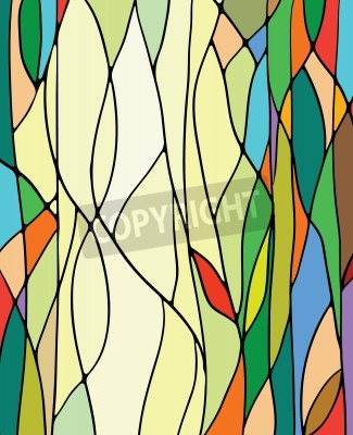 Väggdekor Mångfärgad målat glas