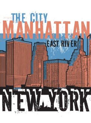 Väggdekor Manhattan, New York