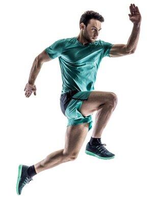 Väggdekor mannen runner jogger kör isolerad