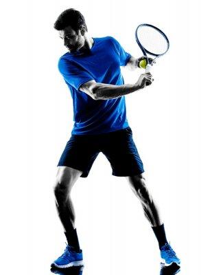 Väggdekor mansilhouette spela tennisspelare