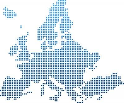 Väggdekor map of Europe