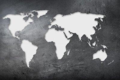 Väggdekor mappa mondiale su lavagna