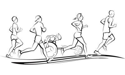 Väggdekor maraton~~POS=TRUNC löpare~~POS=HEADCOMP