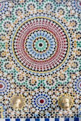 Väggdekor Marockansk stil vattenkranen med detaljerade mosaik