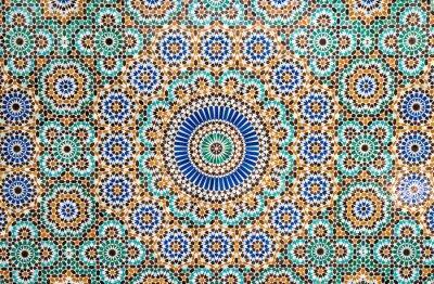 Väggdekor marockanska vintage kakel bakgrund
