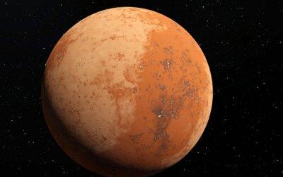 Väggdekor Mars Scientific illustration - planetlandskap