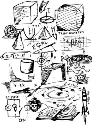 Väggdekor matematiska symboler