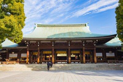 Väggdekor Meiji-jingu helgedom i Tokyo, Japan