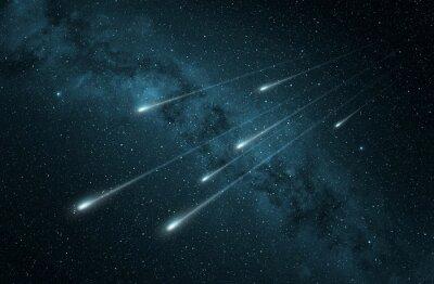 Väggdekor meteorregn i den stjärnklara natthimlen