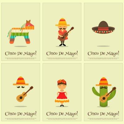 Väggdekor mexikanska affischer