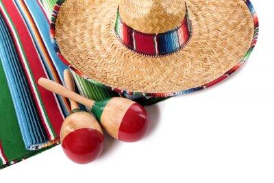 Väggdekor Mexikanska filt och sombrero