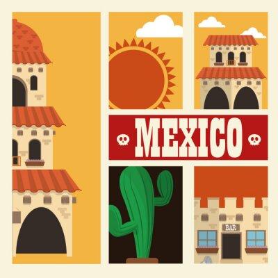 Väggdekor Mexikanska kulturen konstruktion