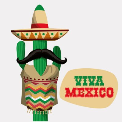Väggdekor Mexiko design.