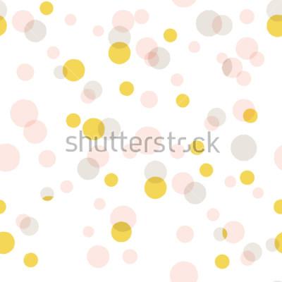 Väggdekor Modern abstrakt vektor stor konfetti bakgrund. Seamless färgstarka prickmönster.
