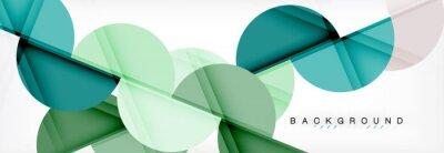 Väggdekor Moderna geometriska abstrakt bakgrund - cirklar. Konstruktionsmall för affärs- eller teknikpresentation, broschyr eller flygmönster eller geometrisk webbbanner