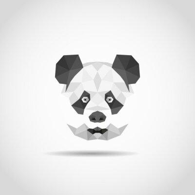 Väggdekor Moderna panda i polygonal stil