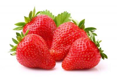 Väggdekor mogen jordgubbe