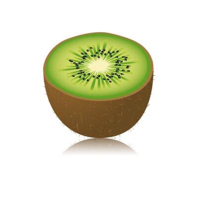 Väggdekor Moitié de kiwi