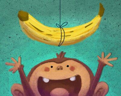 Väggdekor mono y plátano