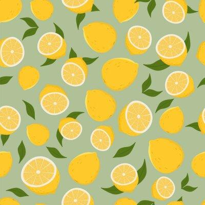 Väggdekor Mönster av citroner.
