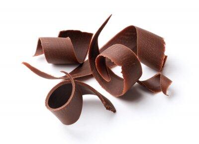 Väggdekor mörk choklad lockar