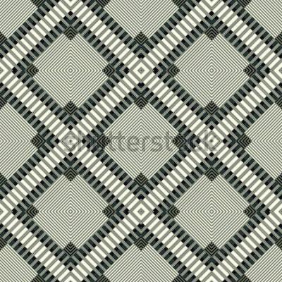 Väggdekor mörka linjer och polygoner geometrisk bakgrund sömlös mönsterillustration