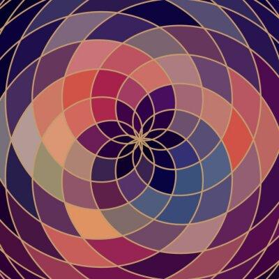 Väggdekor Mosaik spektrum färghjul tillverkade av geometriska former. rainbow co