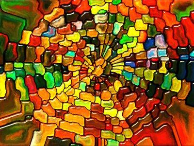 Väggdekor Mot Digital Glas