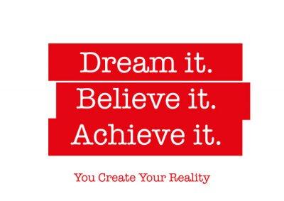 Väggdekor Motivational citationstecken som kommer att inspirera dig att lyckas. Ord som inspirerar ditt hjärta, motivera dig i livet, att skapa framgång, att uppnå dina mål, och att övervinna din rädsla.