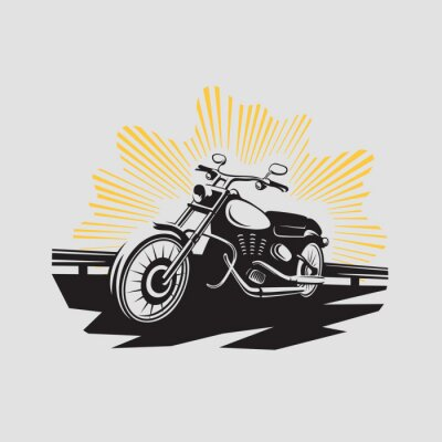 Väggdekor motorcykel etikett