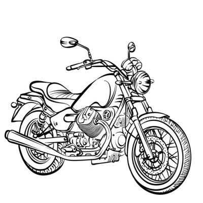 Väggdekor motorcykel klassiska