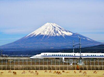 Väggdekor Mt. Fuji och Bullet Train