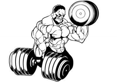 Väggdekor muskulär kroppsbyggare träningspass
