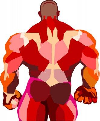 Väggdekor Muskulös kroppsbyggare i ett gym
