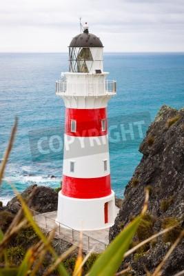 Väggdekor Närbild av en vacker fyr på Cape Palliser, North Island, Nya Zeeland